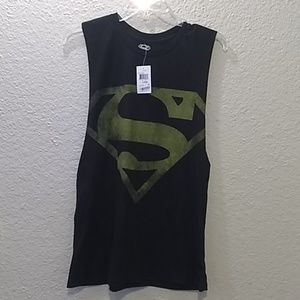 Nwt Superman cutoff workout tank size Large